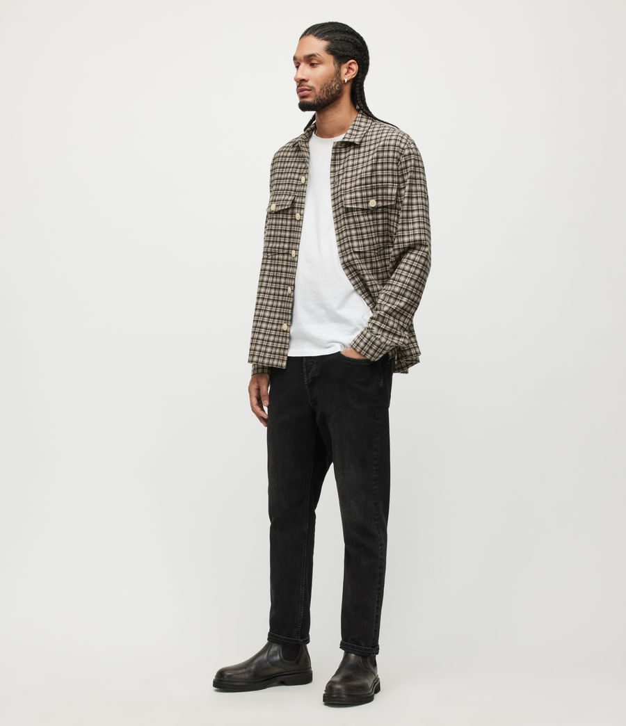 Men's Figure Crew T-Shirt (washed_black) - Image 3