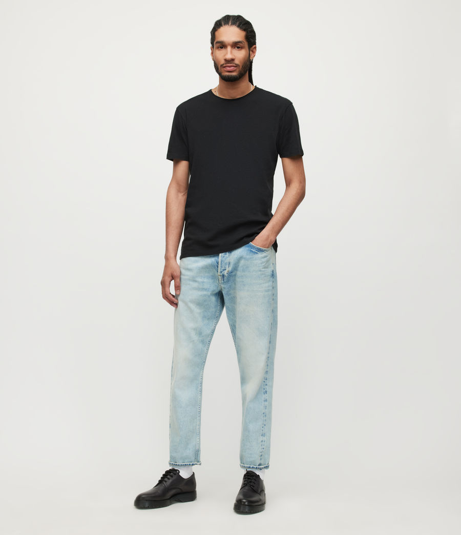Men's Figure Crew T-Shirt (jet_black) - Image 3
