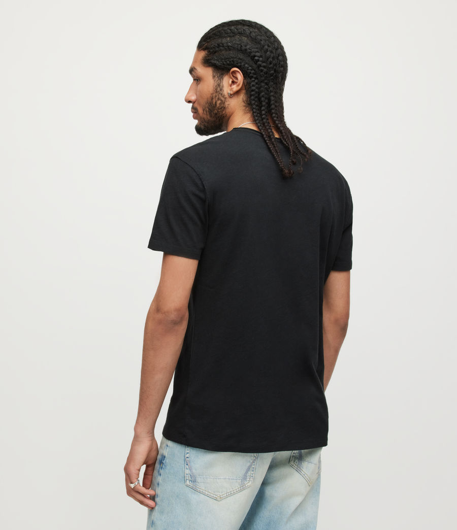 Mens Figure Crew T-Shirt (Jet Black) - Image 4