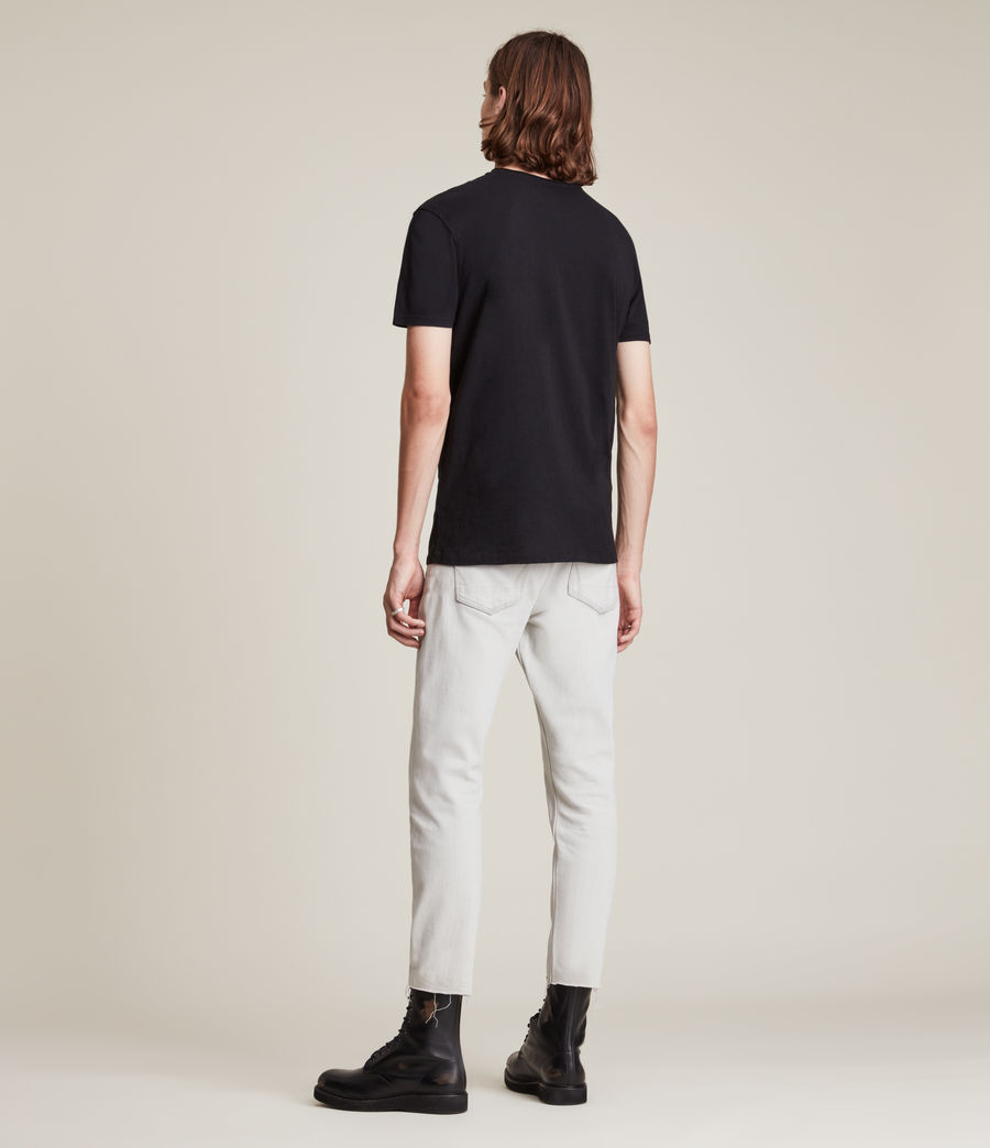 Uomo T-shirt Figure - In cotone con cuciture in rilievo (washed_black) - Image 5