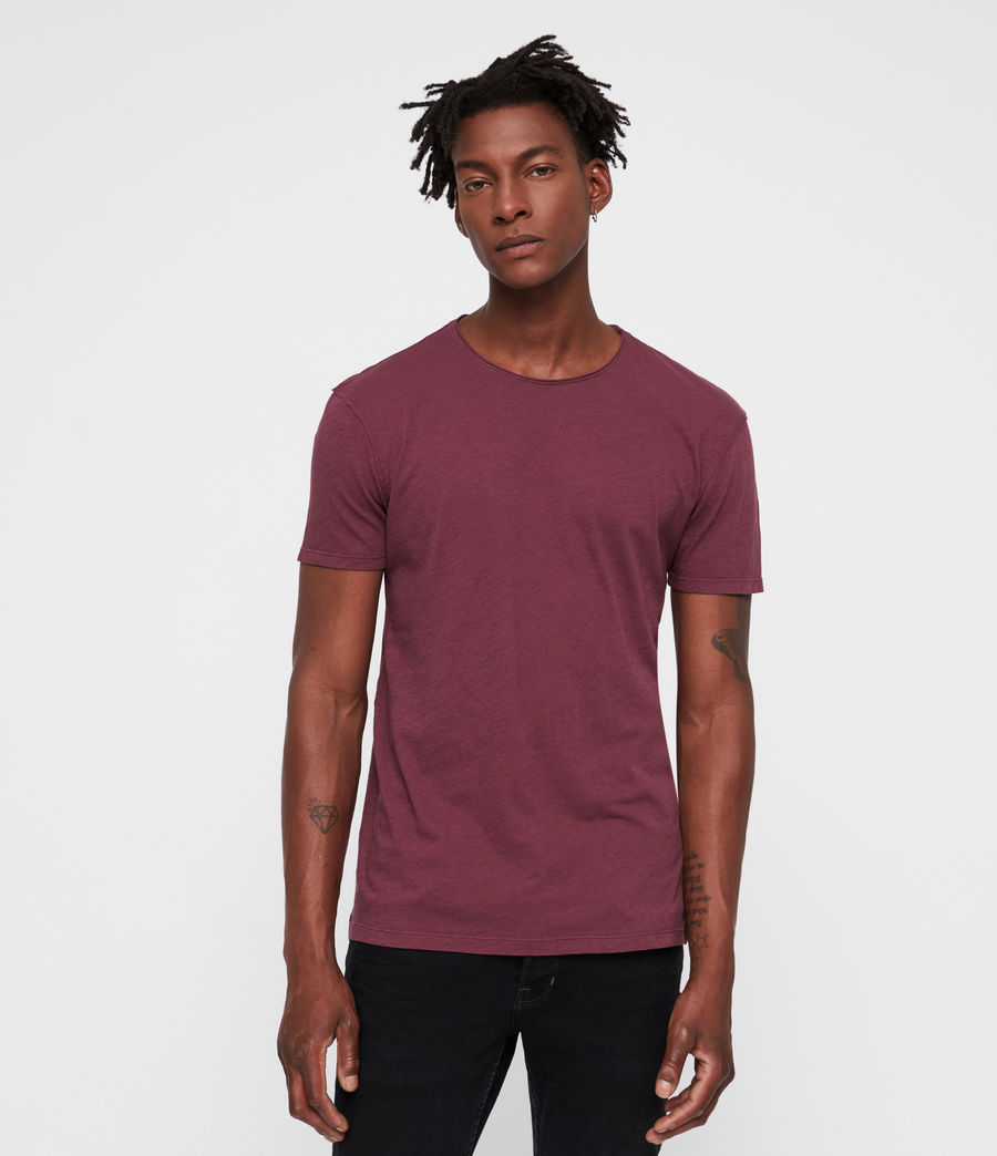 Mens Figure Crew T-Shirt (claret_red) - Image 1