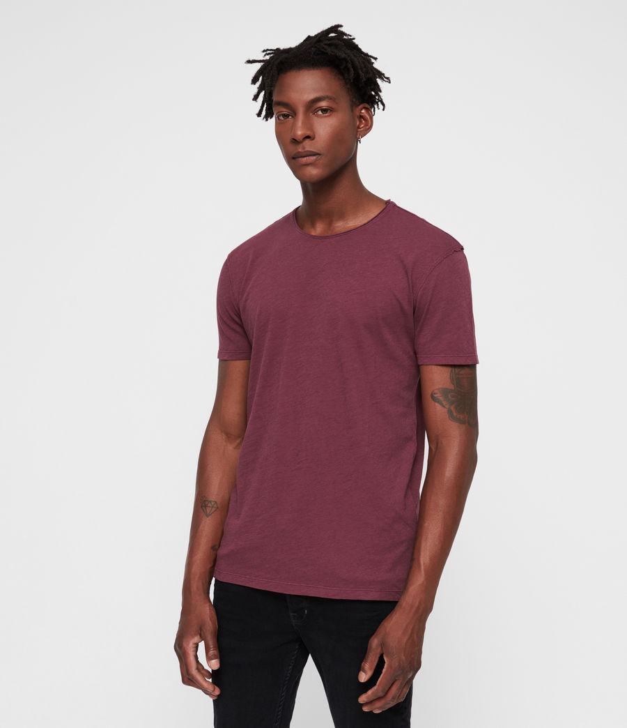 Mens Figure Crew T-Shirt (claret_red) - Image 3