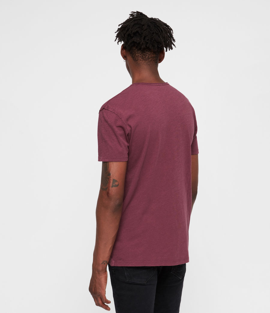 Mens Figure Crew T-Shirt (claret_red) - Image 4