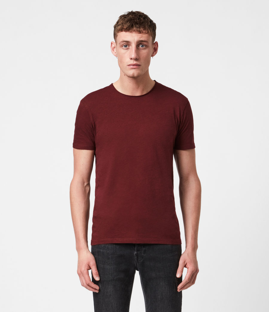 Mens Figure Crew T-Shirt (maroon_red) - Image 1