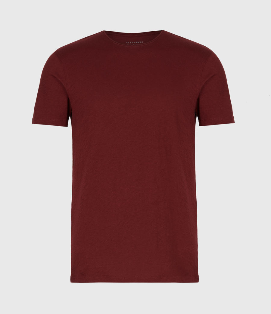 Mens Figure Crew T-Shirt (maroon_red) - Image 2