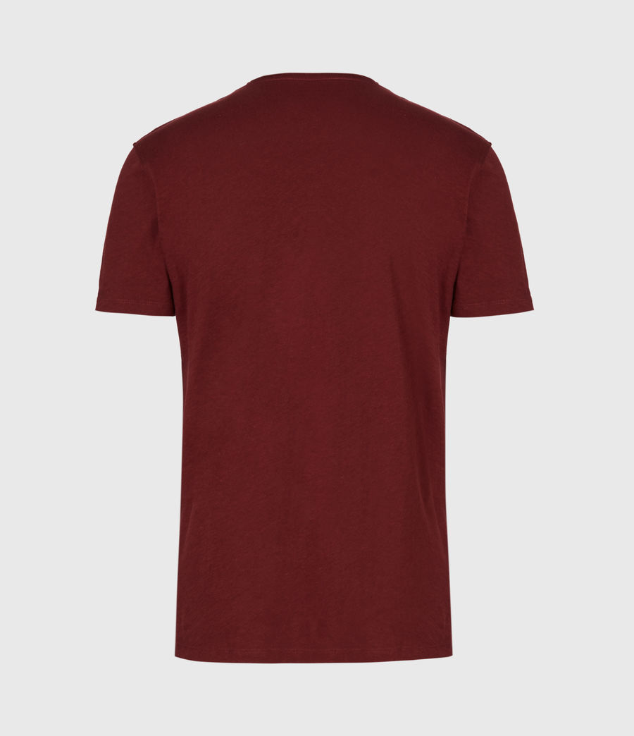 Mens Figure Crew T-Shirt (maroon_red) - Image 3