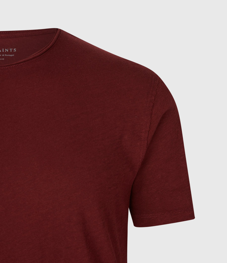 Mens Figure Crew T-Shirt (maroon_red) - Image 4