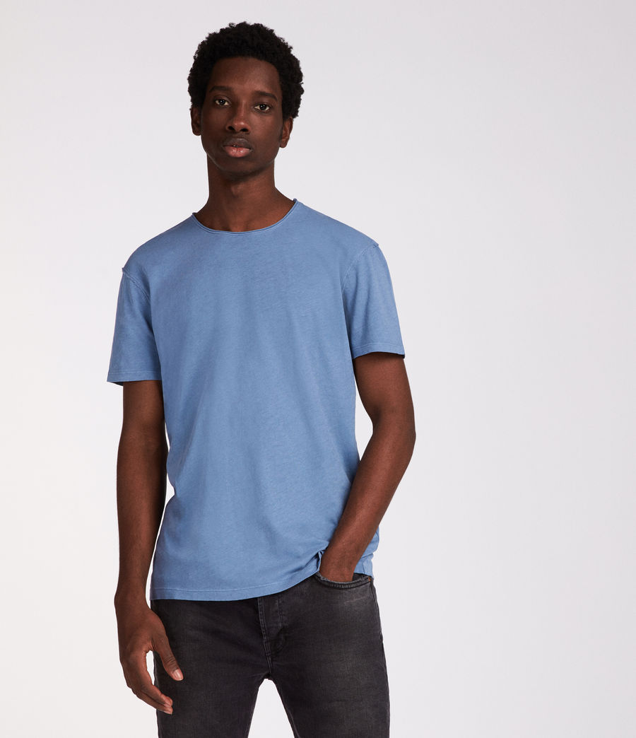 Men's Figure Crew T-Shirt (rain_blue) - Image 1