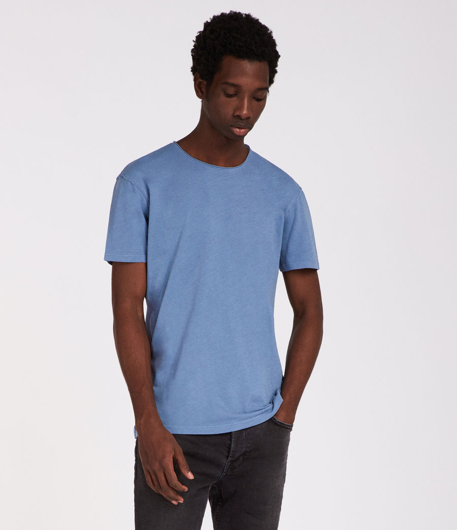 Men's Figure Crew T-Shirt (rain_blue) - Image 3