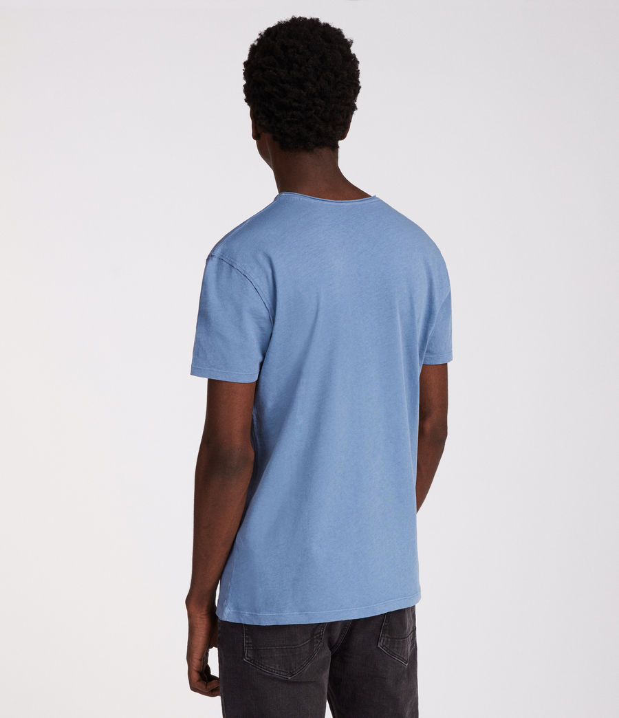 Men's Figure Crew T-Shirt (rain_blue) - Image 4