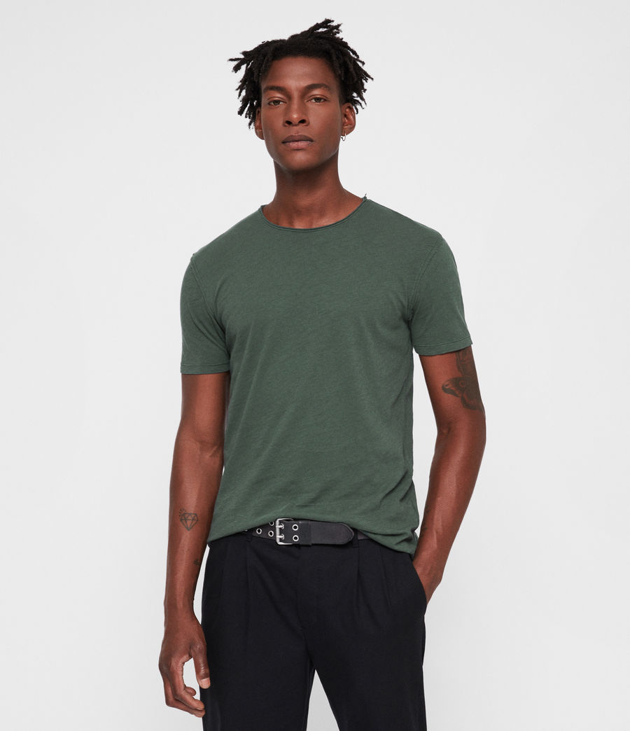 Men's Figure Crew T-Shirt (canopy_green) - Image 1