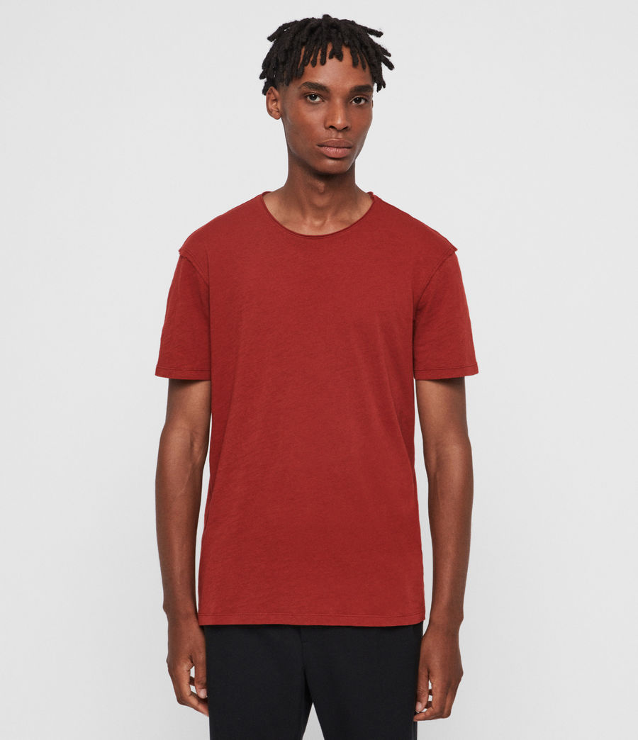 Mens Figure Crew T-Shirt (brick_red) - Image 1