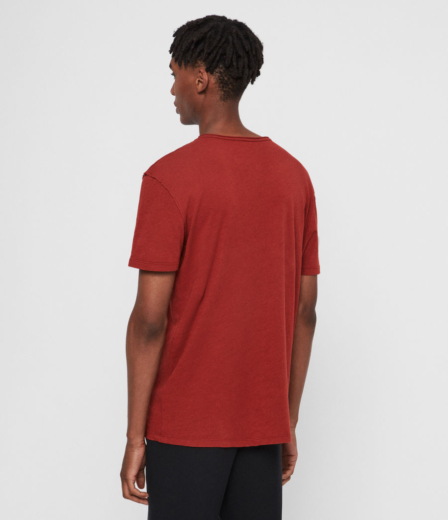 Mens Figure Crew T-Shirt (brick_red) - Image 5