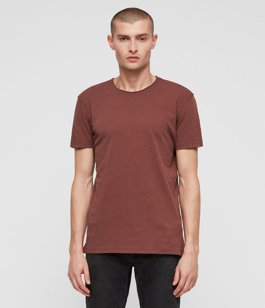 Mens Figure Crew T-Shirt (sulphur_red) - Image 1