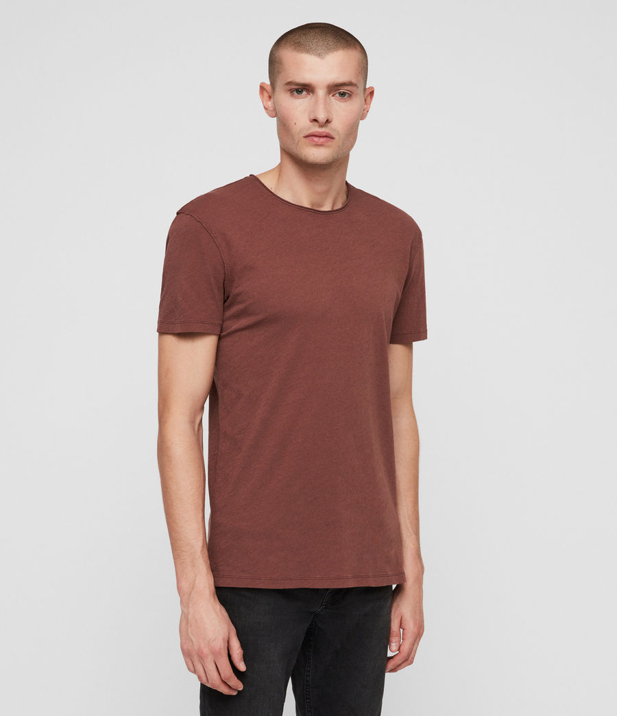Mens Figure Crew T-Shirt (sulphur_red) - Image 3