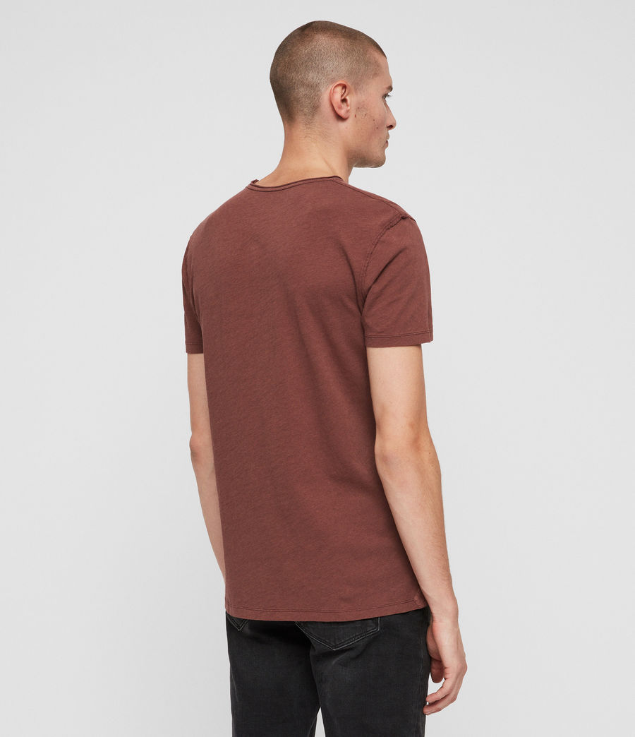 Mens Figure Crew T-Shirt (sulphur_red) - Image 4