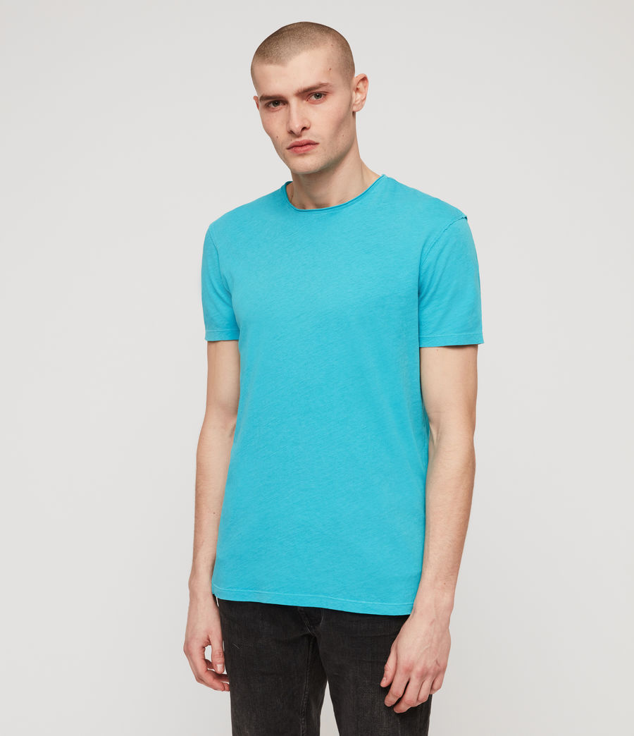 Mens Figure Crew T-Shirt (tropicana_blue) - Image 5