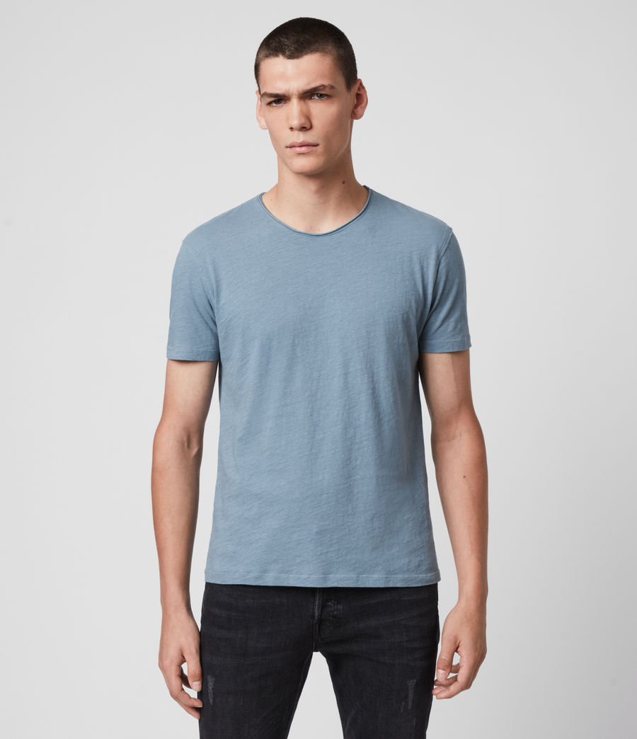 Mens Figure Crew T-Shirt (haze_blue) - Image 1
