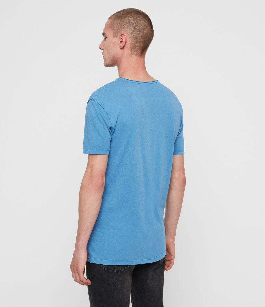 Uomo T-shirt Figure - In cotone con cuciture in rilievo (atlantic_blue) - Image 4