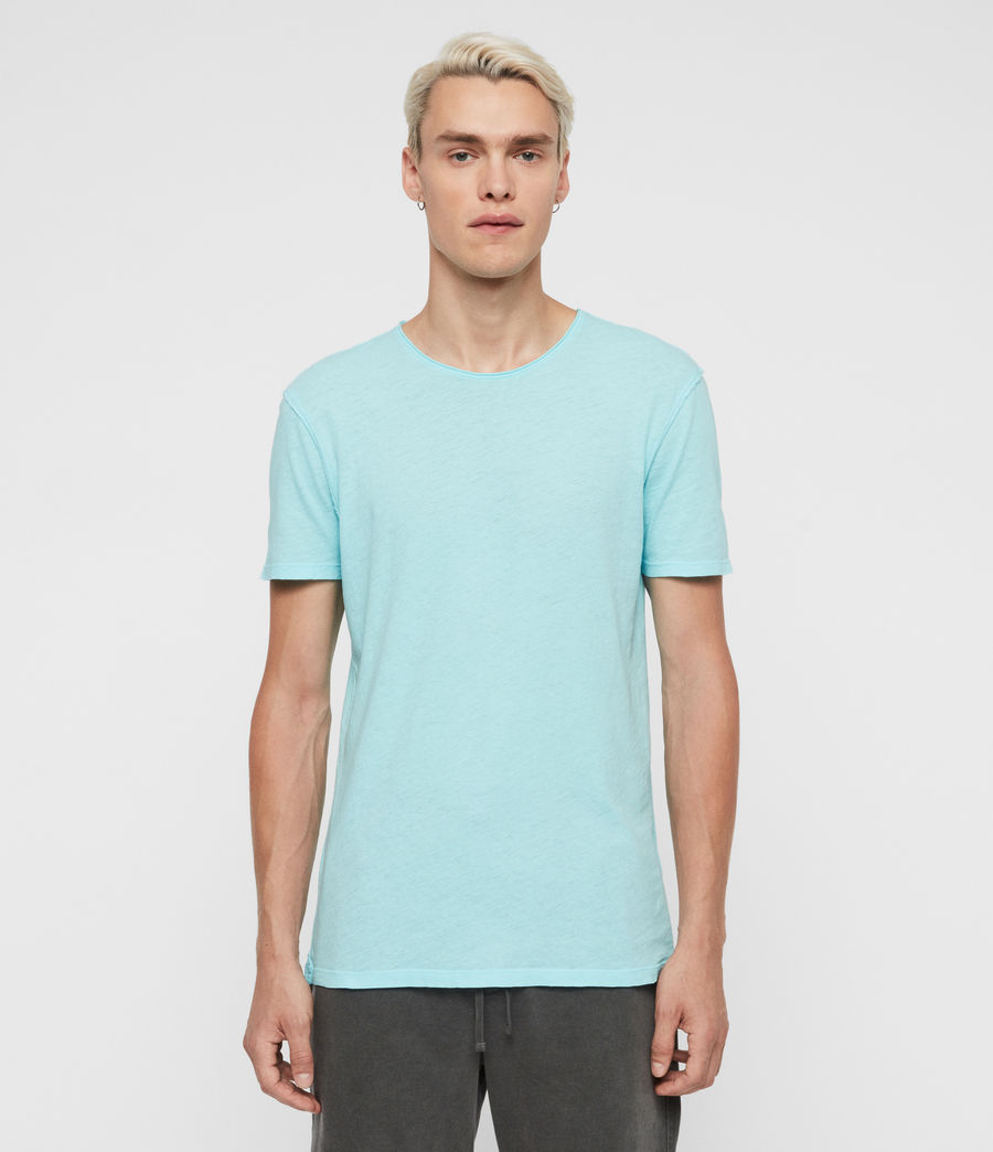Men's Figure Crew T-Shirt (hawaii_blue) - Image 1