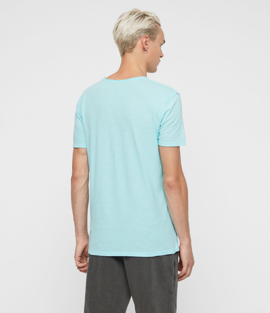 Uomo T-shirt Figure - In cotone con cuciture in rilievo (hawaii_blue) - Image 5