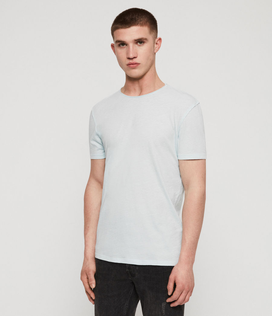 Men's Figure Crew T-Shirt (haze_blue) - Image 1