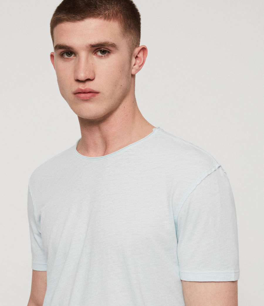 Men's Figure Crew T-Shirt (haze_blue) - Image 2