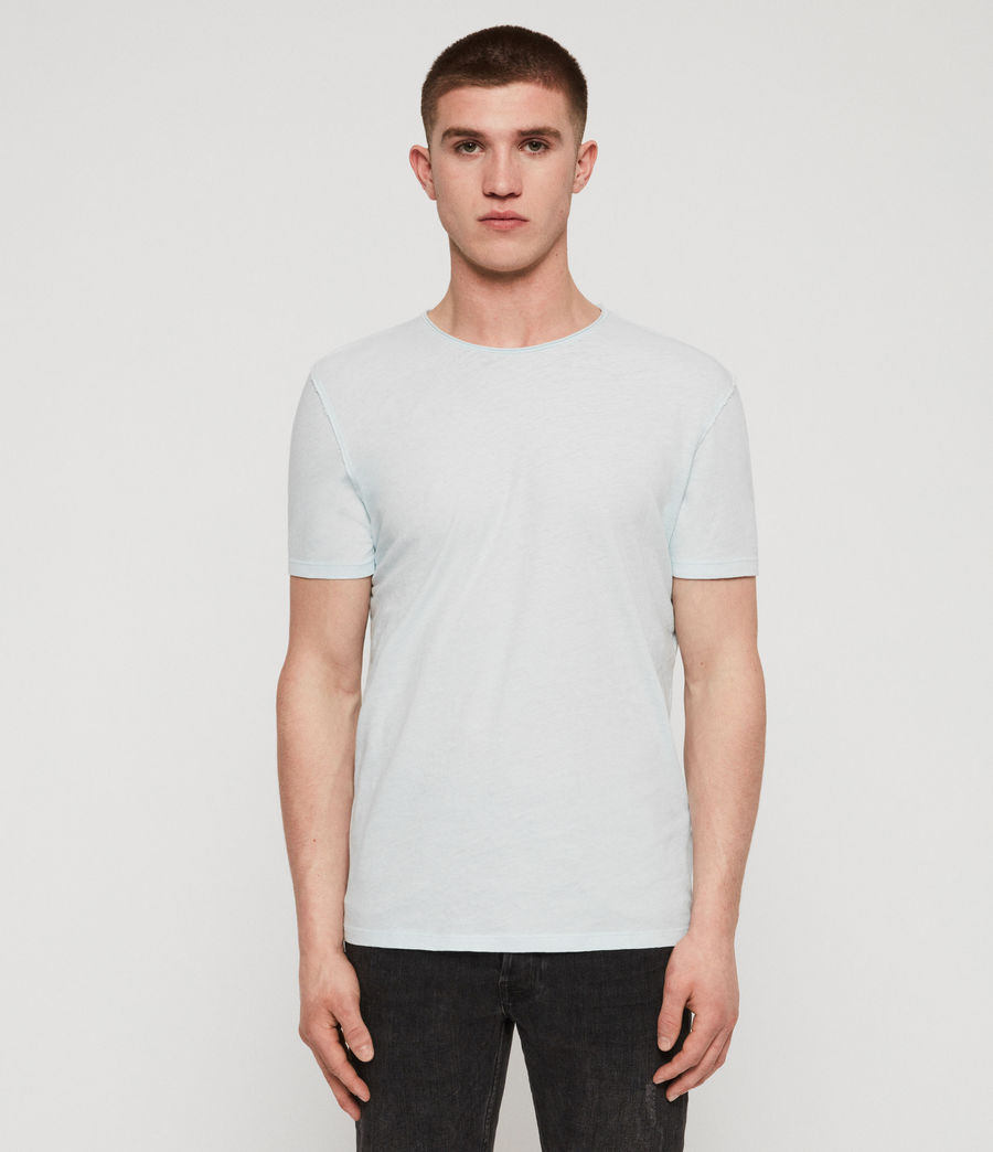 Men's Figure Crew T-Shirt (light_aqua_blue_ml) - Image 3