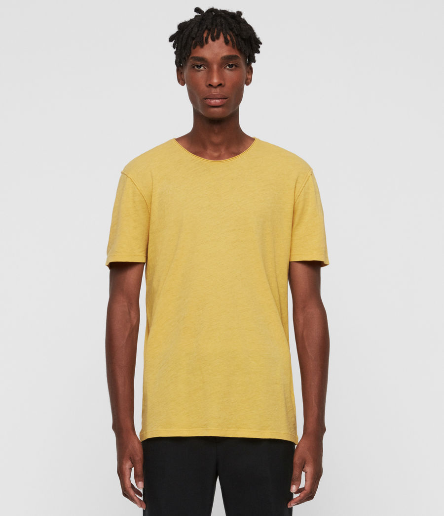 Mens Figure Crew T-Shirt (corn_yellow) - Image 1