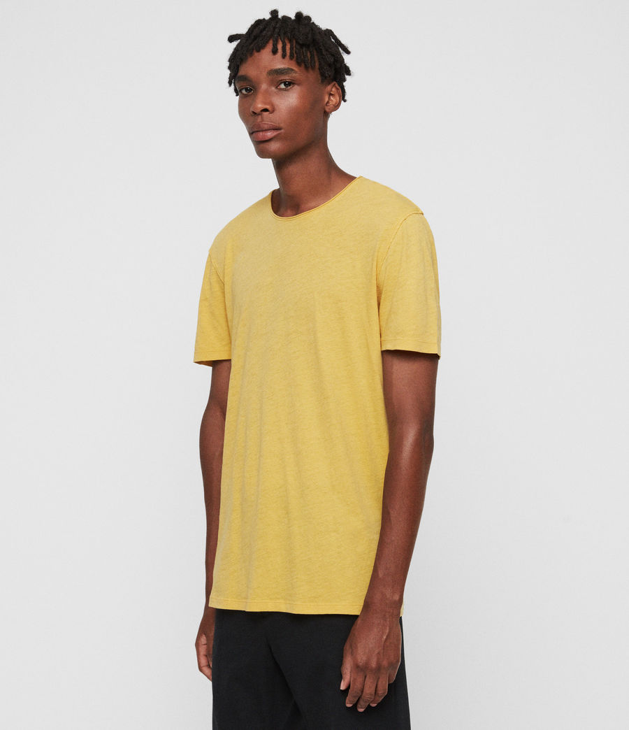Mens Figure Crew T-Shirt (corn_yellow) - Image 4