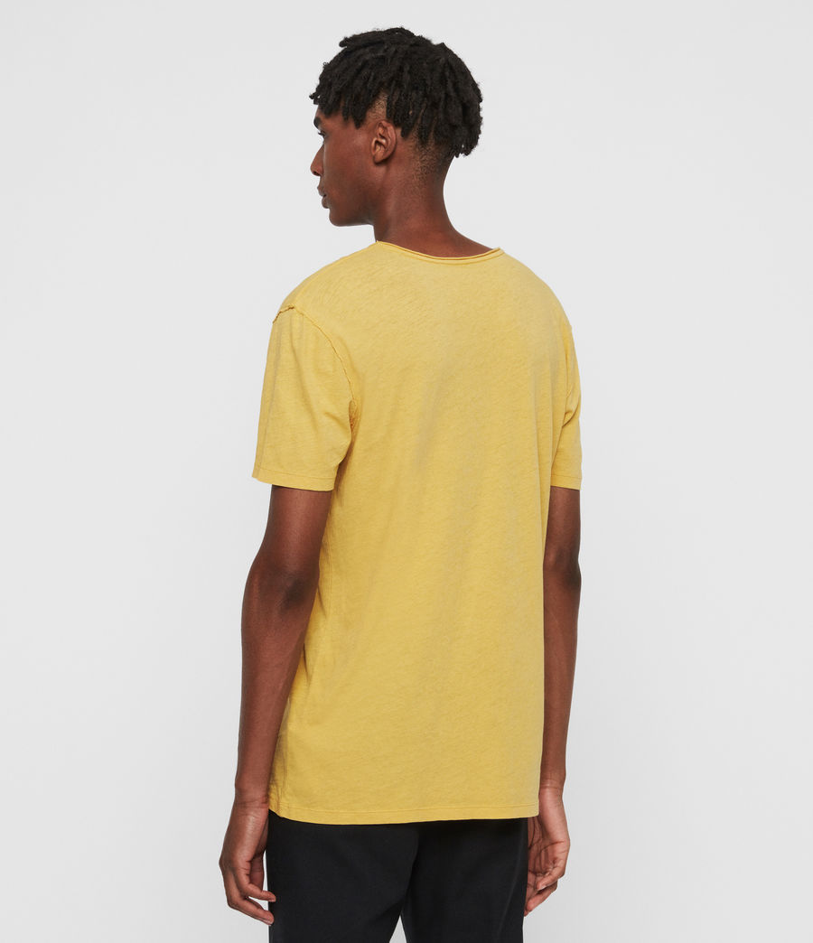 Mens Figure Crew T-Shirt (corn_yellow) - Image 5