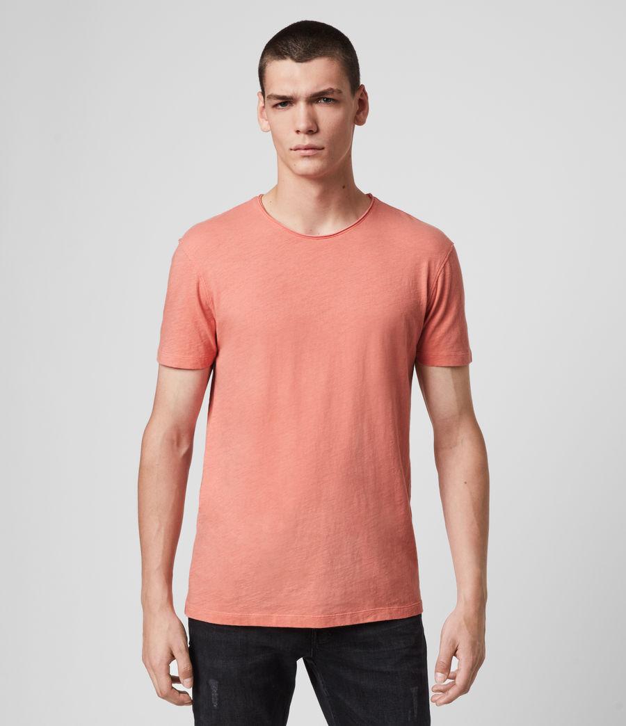 Mens Figure Crew T-Shirt (melon_pink) - Image 1