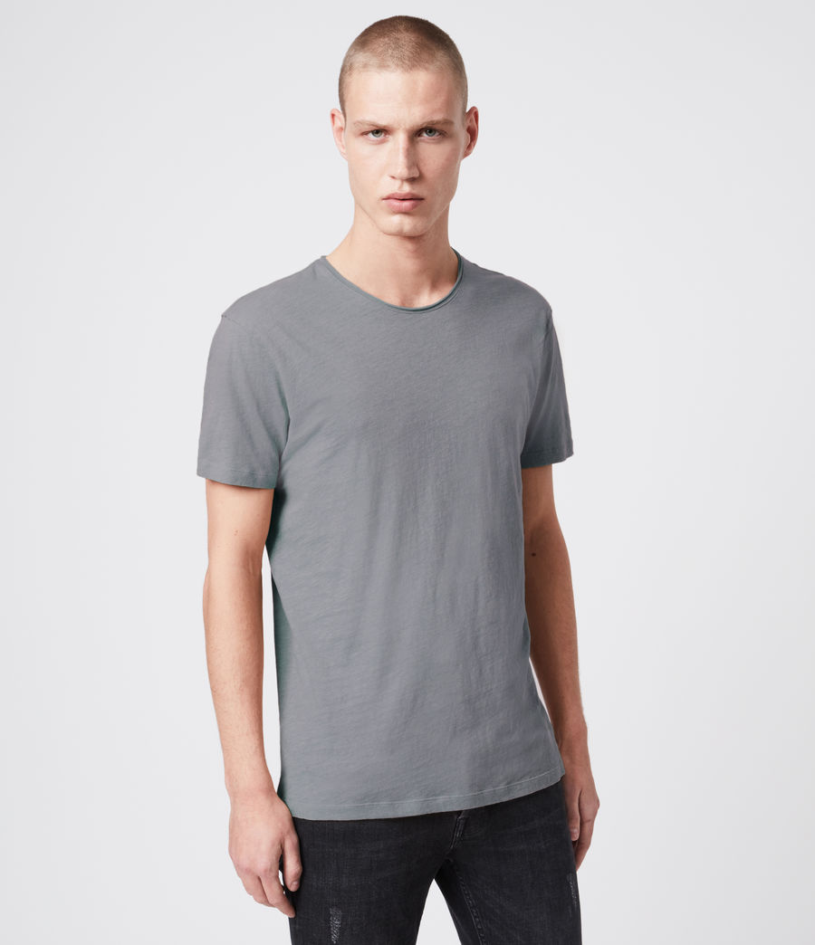 Mens Figure Crew T-Shirt (workwear_grey) - Image 2