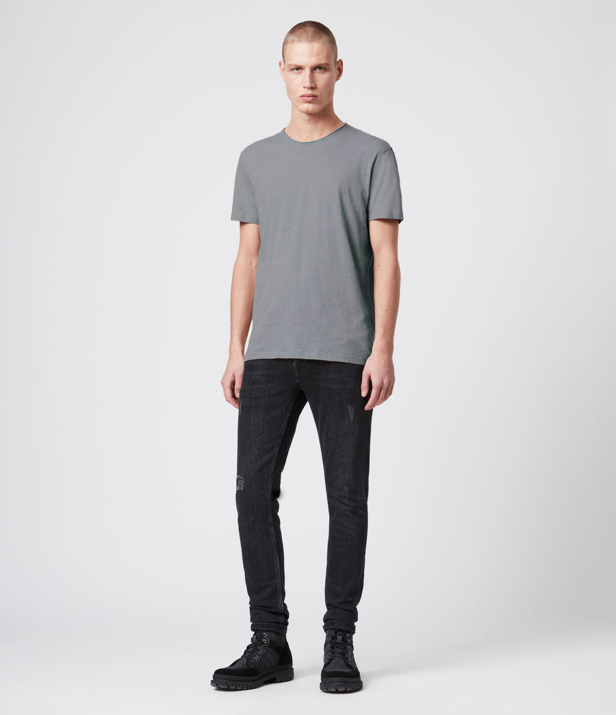 Men's Figure Crew T-Shirt (workwear_grey) - Image 3