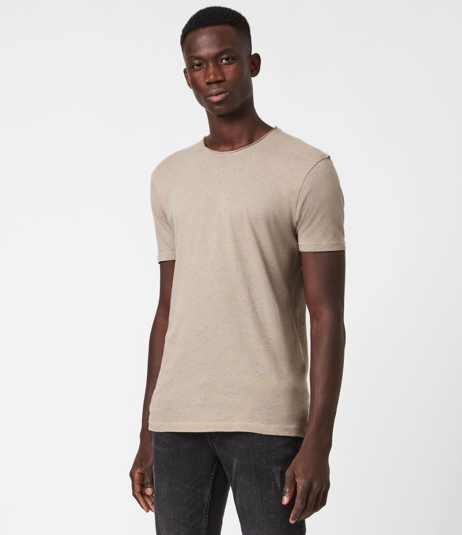 Mens Figure Crew T-Shirt (limestone_taupe) - Image 1