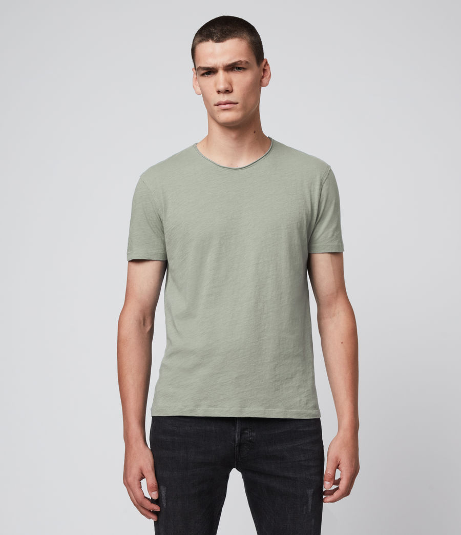 Mens Figure Crew T-Shirt (thyme_green) - Image 1