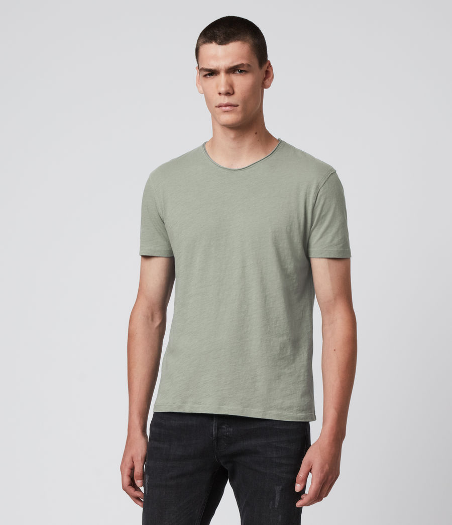 Mens Figure Crew T-Shirt (thyme_green) - Image 2