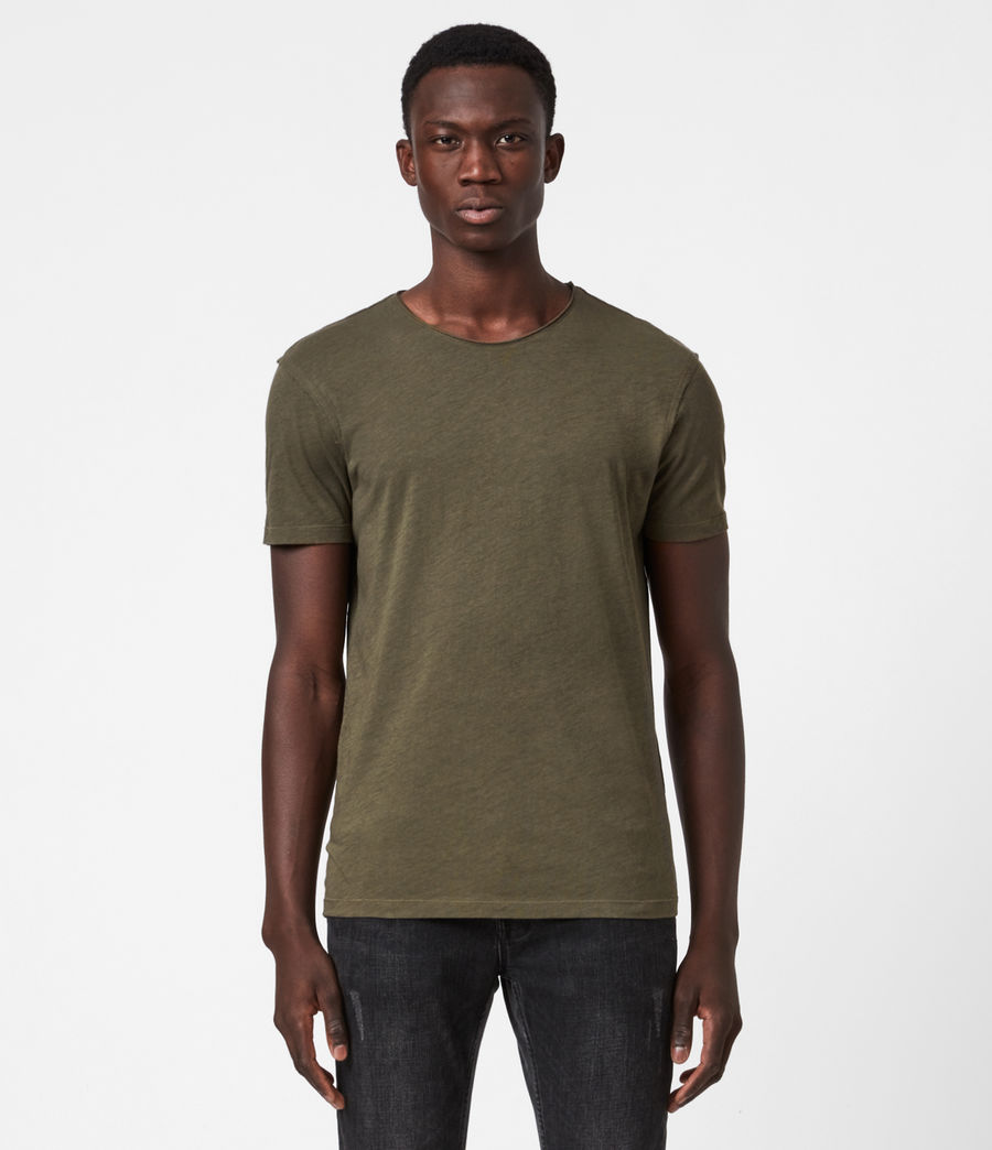Men's Figure Crew T-Shirt (seaweed_green) - Image 1