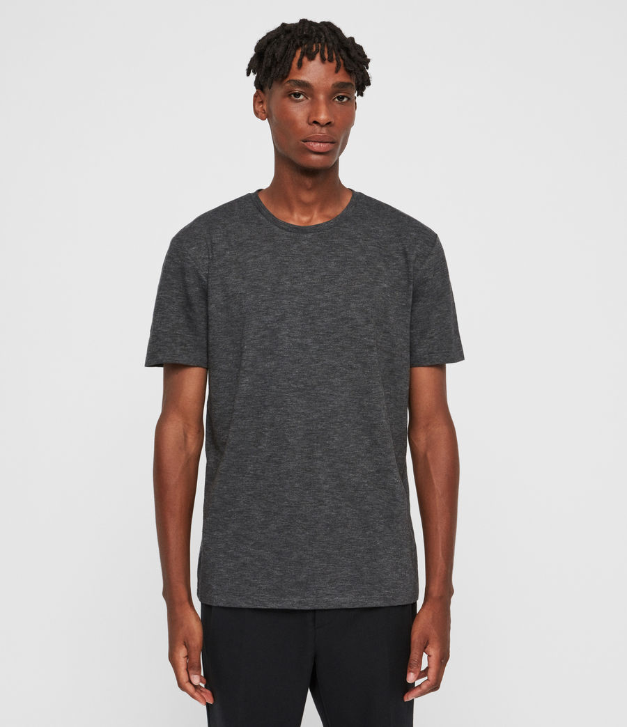 Mens Russel Crew T-Shirt (charcoal_marl) - Image 1