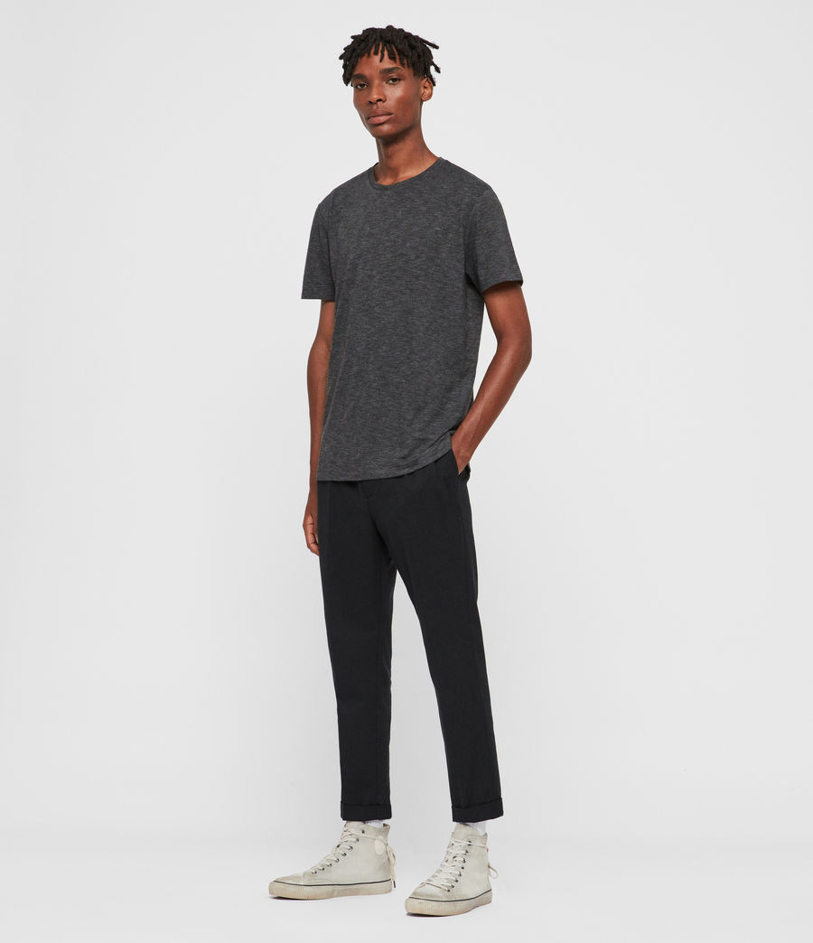 Mens Russel Crew T-Shirt (charcoal_marl) - Image 3