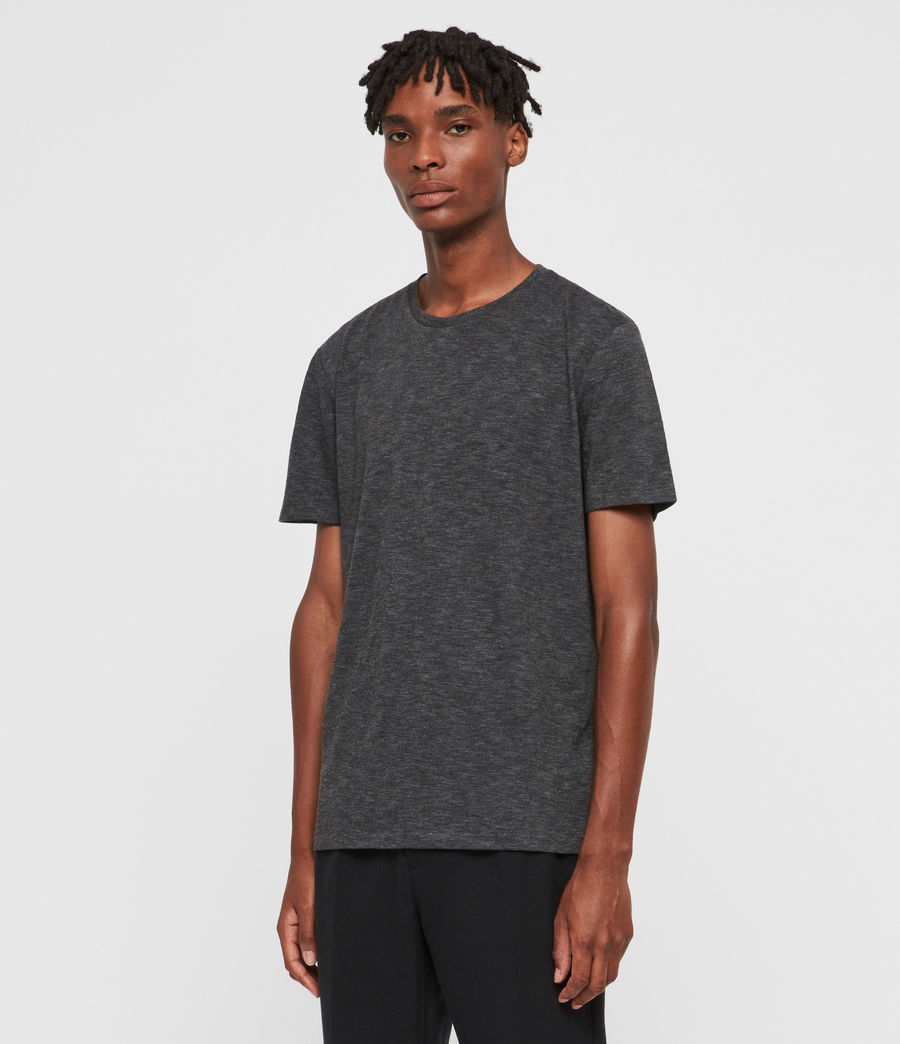 Mens Russel Crew T-Shirt (charcoal_marl) - Image 4
