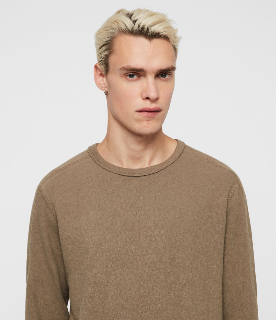 Mens Gavin Long Sleeve Crew T-Shirt (beech_green) - Image 2