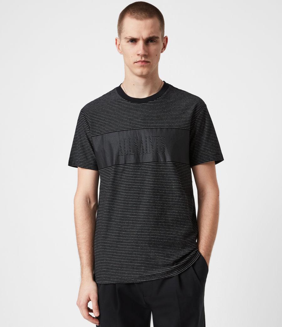 Mens Warren Crew T-Shirt (black) - Image 1