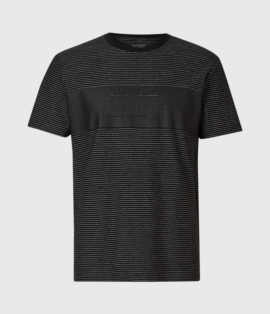 Mens Warren Crew T-Shirt (black) - Image 2