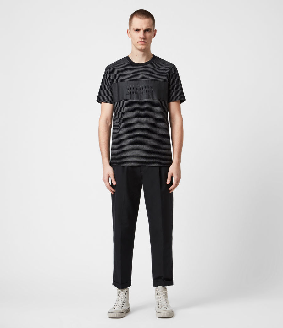 Mens Warren Crew T-Shirt (black) - Image 4