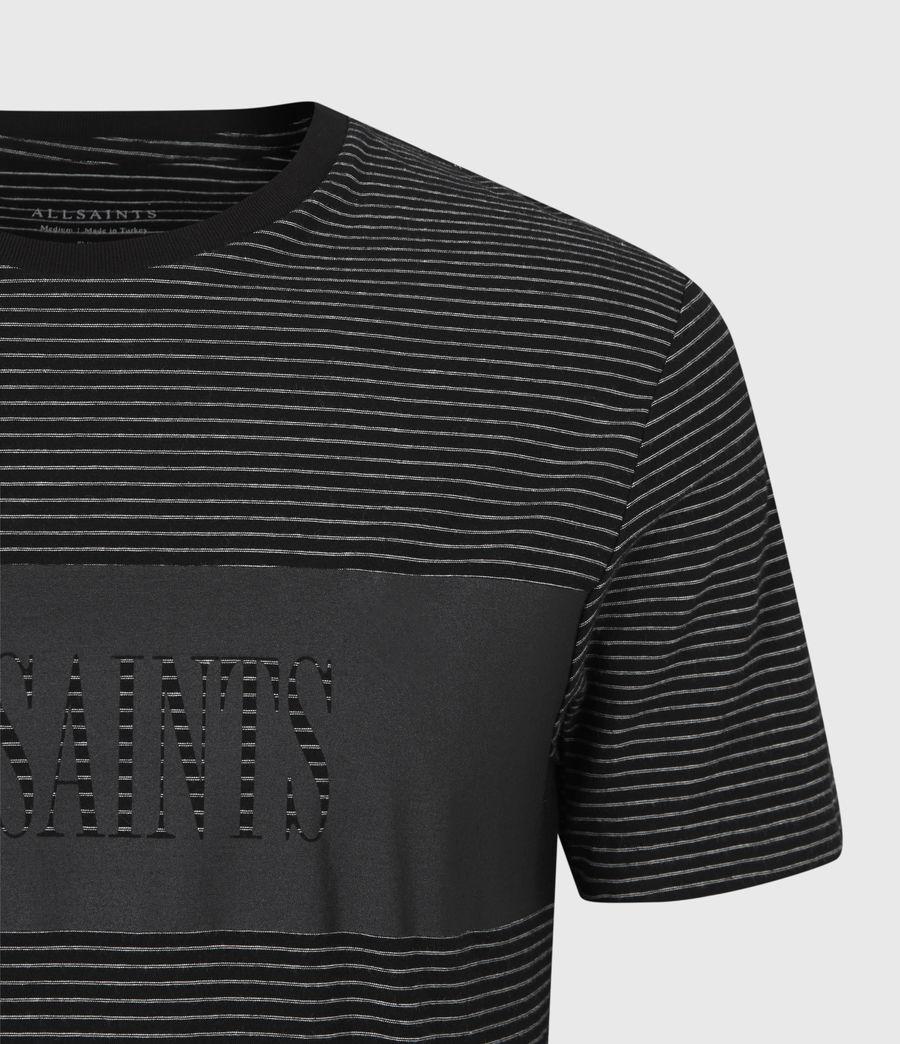 Mens Warren Crew T-Shirt (black) - Image 5