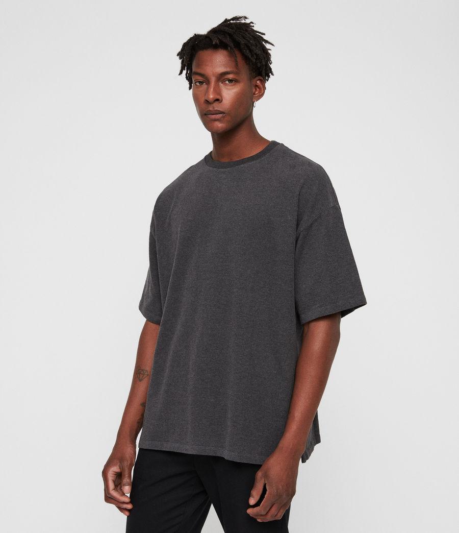 Men's Salvi Crew T-Shirt (charcoal_marl) - Image 4