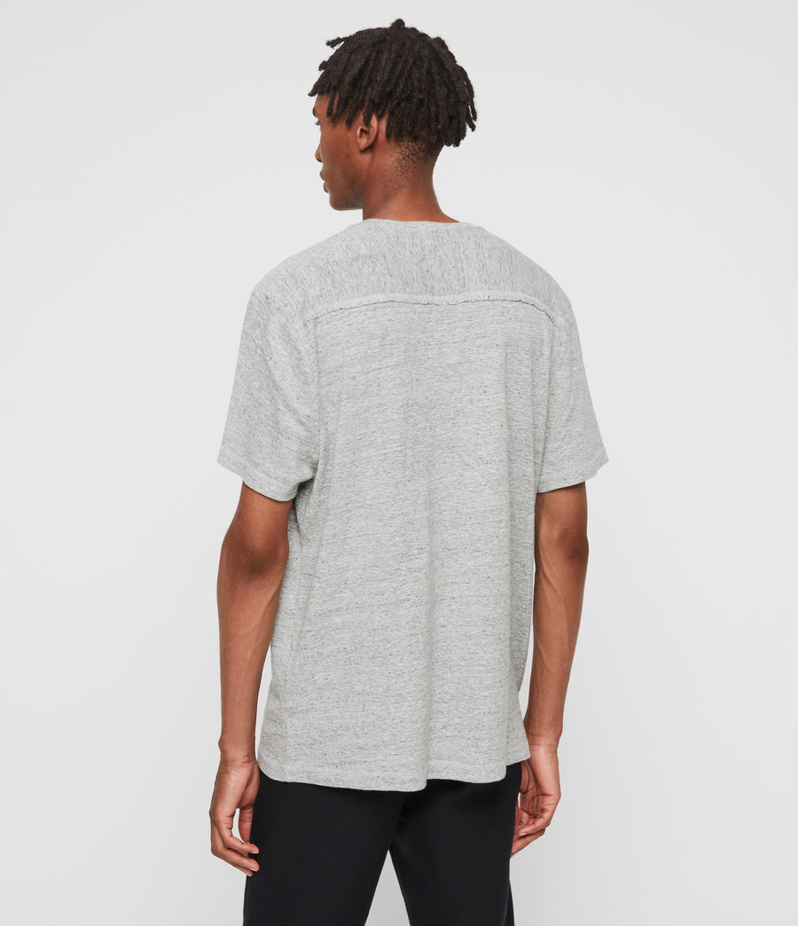 Mens Falcon Crew T-Shirt (grey_marl) - Image 5