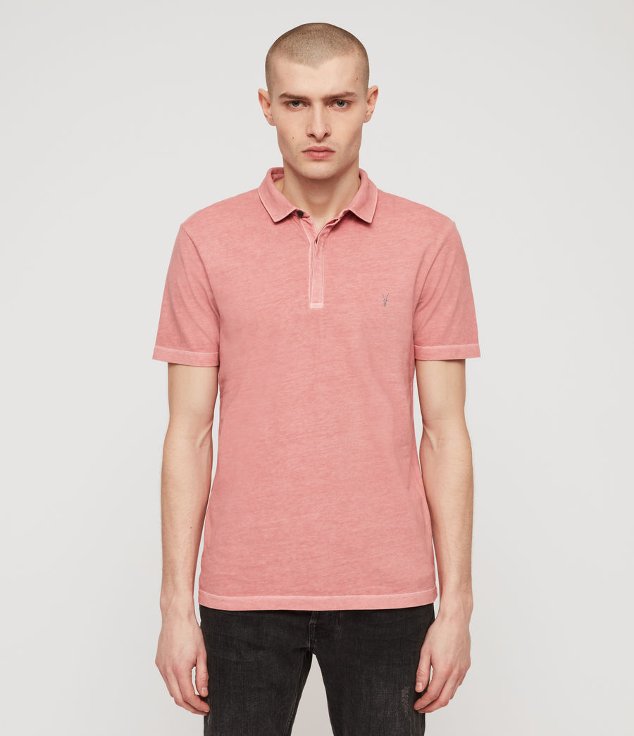 Men's Ossage Polo Shirt (moth_pink) - Image 1