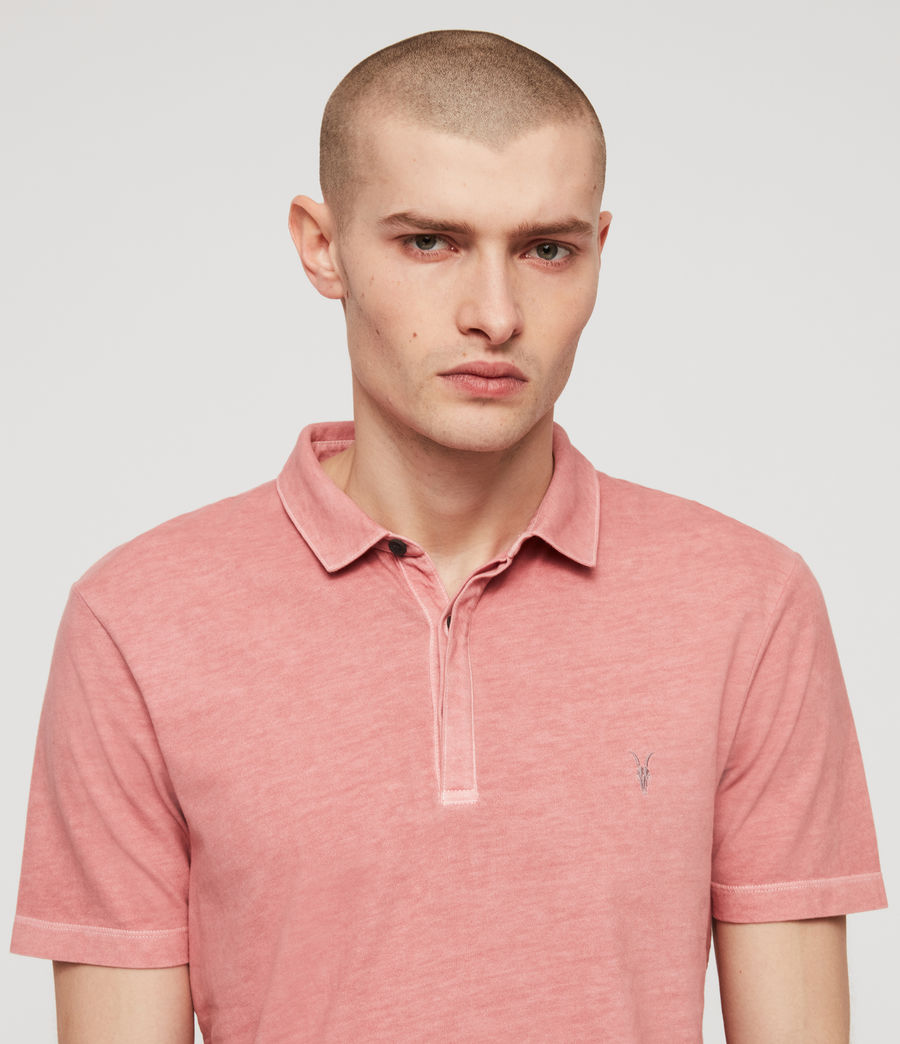 Men's Ossage Polo Shirt (moth_pink) - Image 2